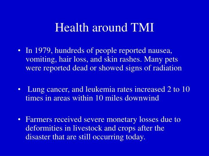 Health around TMI
