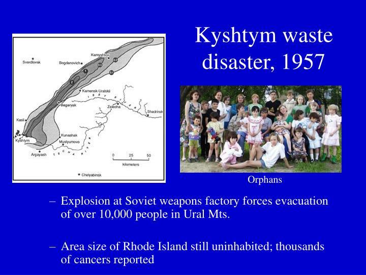 Kyshtym waste disaster, 1957
