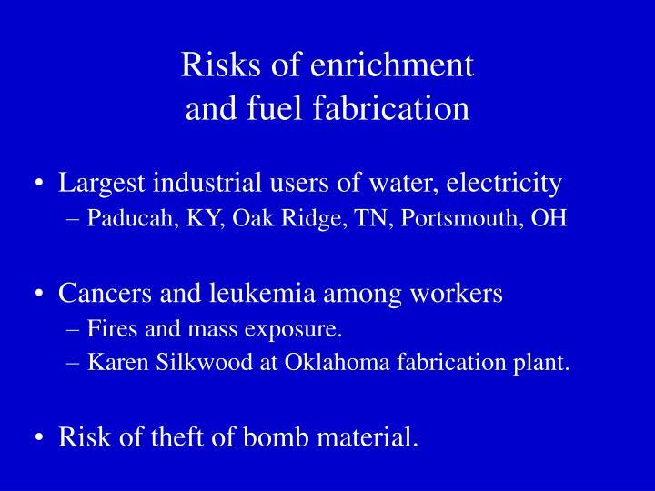 Risks of enrichment