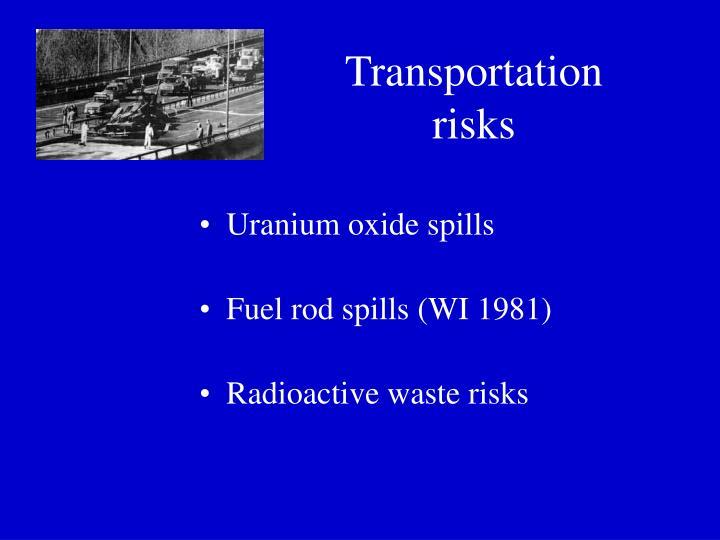 Transportation risks