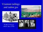 uranium tailings and radon gas