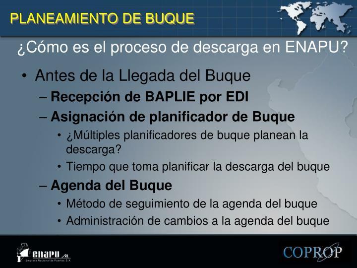 PLANEAMIENTO DE BUQUE