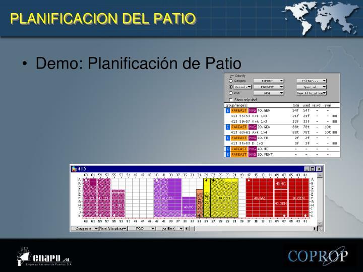 PLANIFICACION DEL PATIO