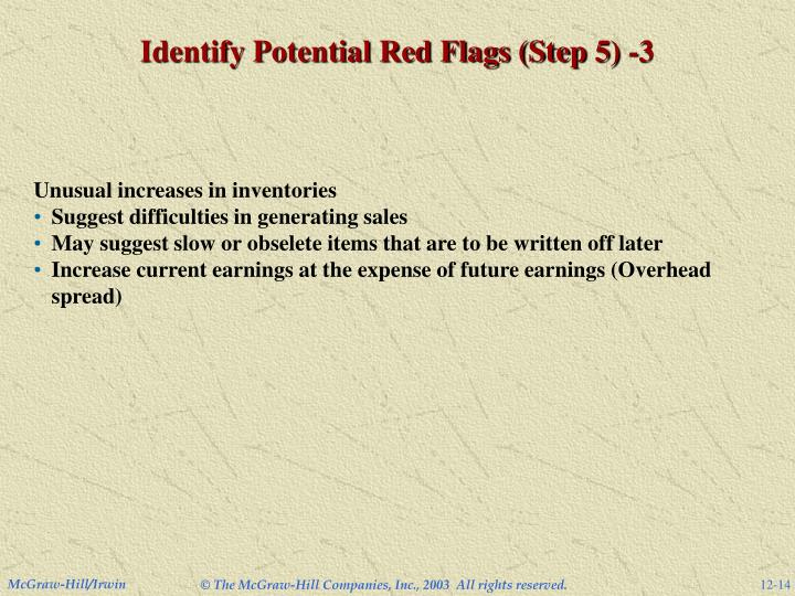 Identify Potential Red Flags (Step 5) -3