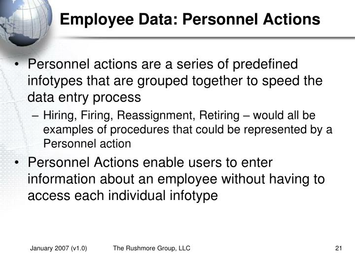 Employee Data: Personnel Actions