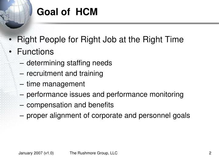Goal of  HCM