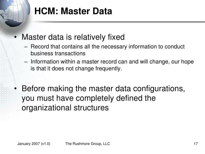 HCM: Master Data