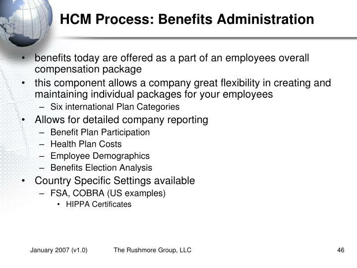 HCM Process: Benefits Administration