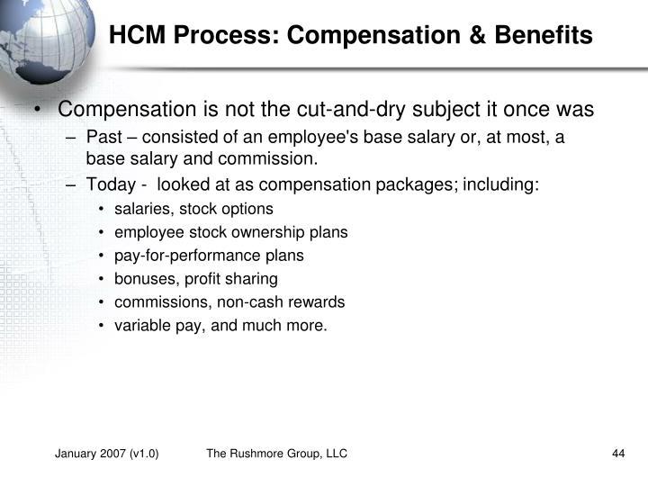 HCM Process: Compensation & Benefits