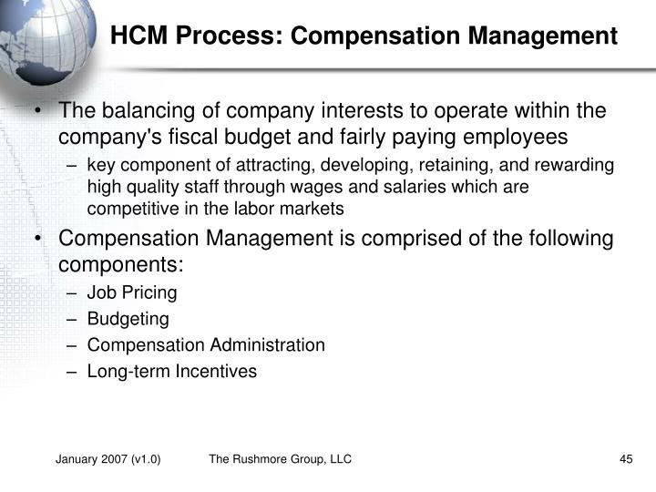 HCM Process: