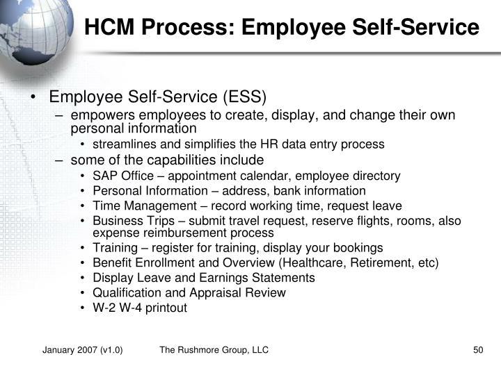 HCM Process: Employee Self-Service