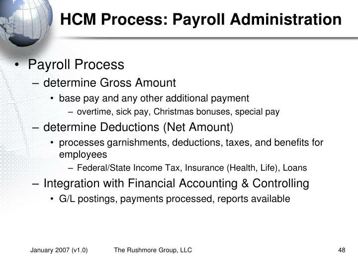HCM Process: Payroll Administration