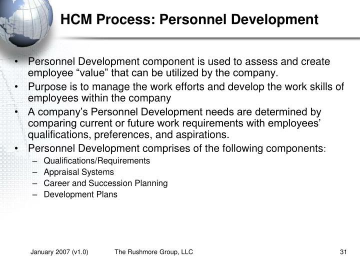 HCM Process: Personnel Development