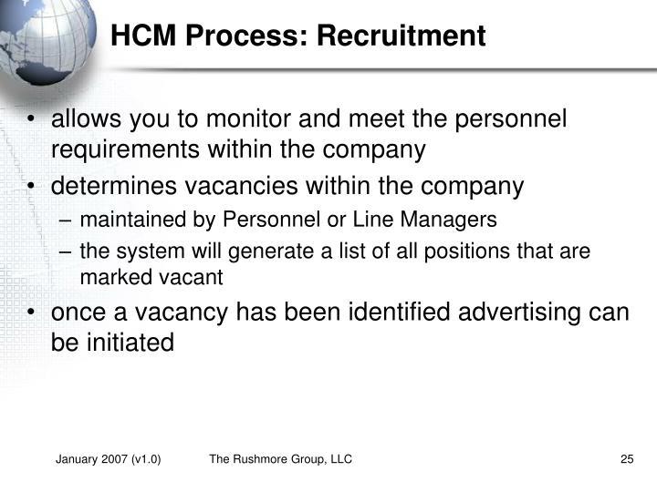 HCM Process: Recruitment