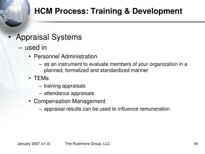 HCM Process: Training & Development