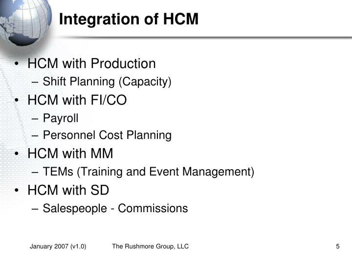 Integration of HCM