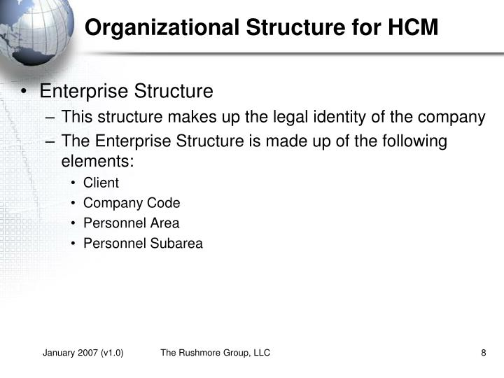 Organizational Structure for HCM