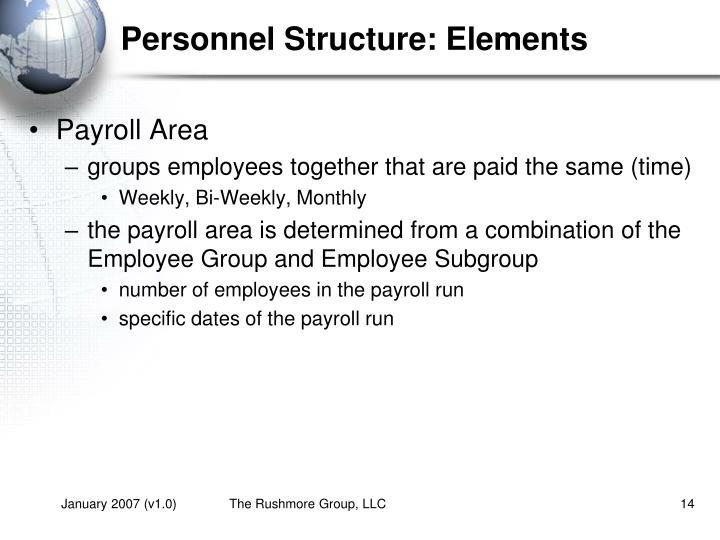 Personnel Structure: Elements