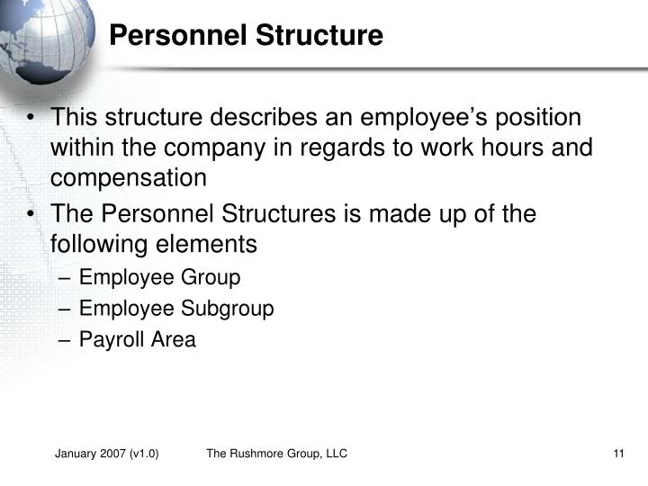 Personnel Structure