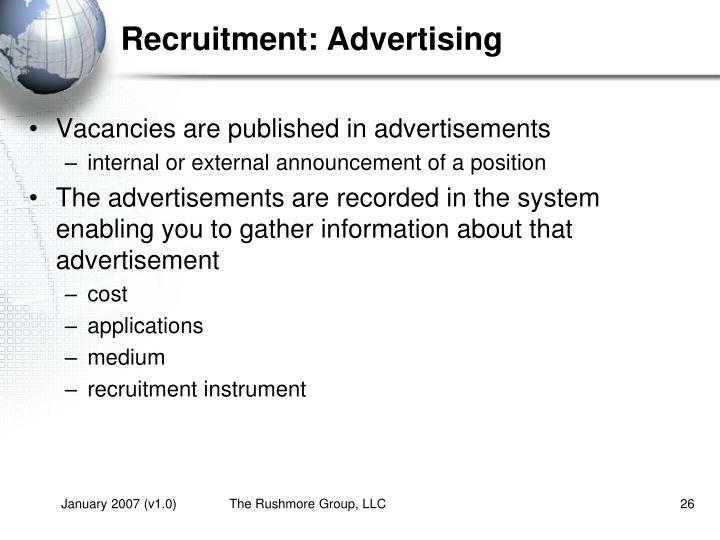 Recruitment: Advertising