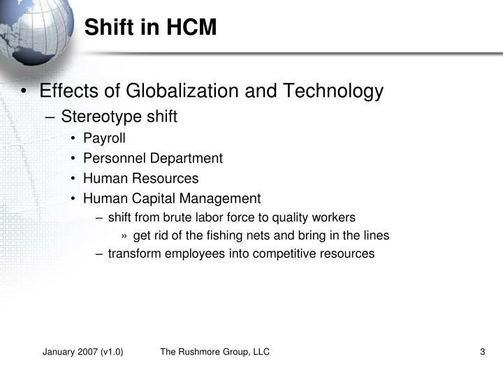 Shift in HCM