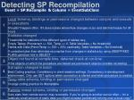 detecting sp recompilation