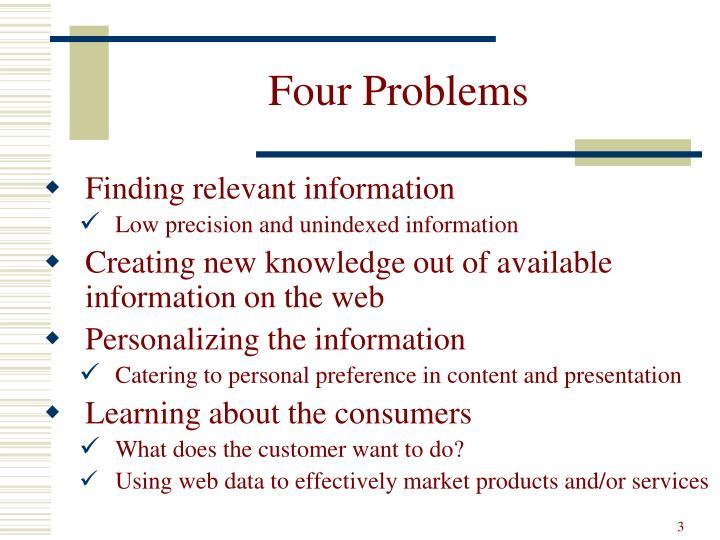 Four Problems