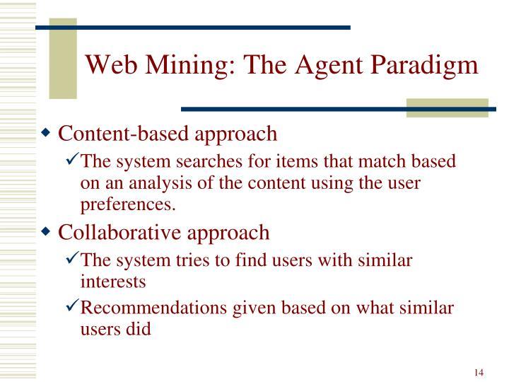 Web Mining: The Agent Paradigm
