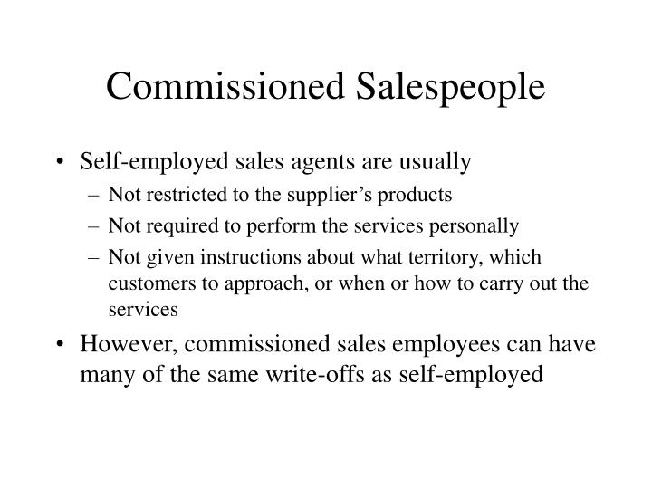 Commissioned Salespeople