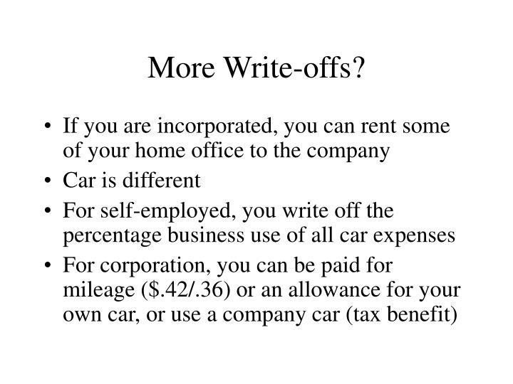 More Write-offs?