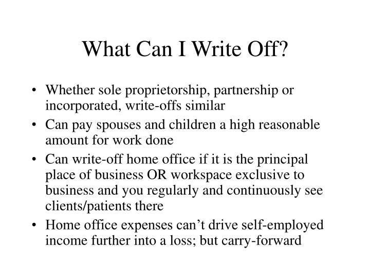 What Can I Write Off?