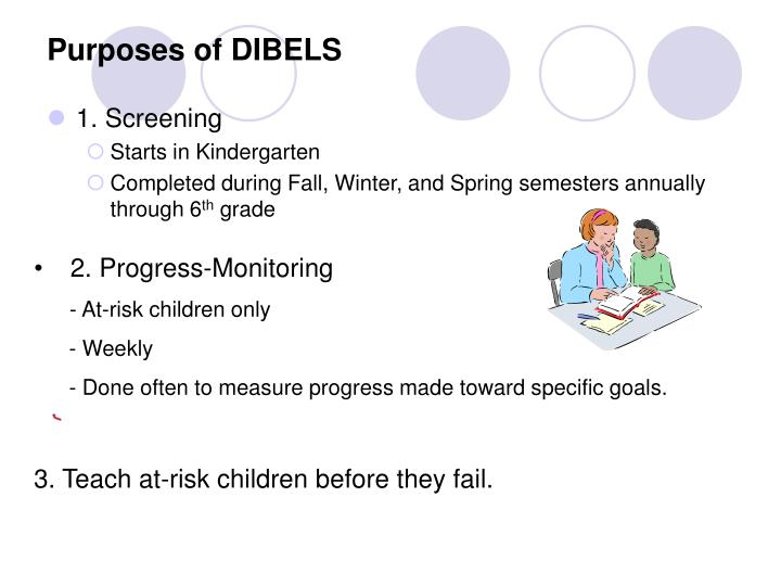 Purposes of DIBELS