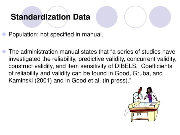 Standardization Data
