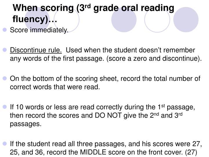 When scoring (3