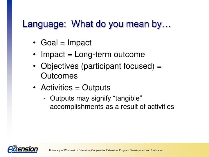 Ppt logic models a framework for program planning and for What does diction mean
