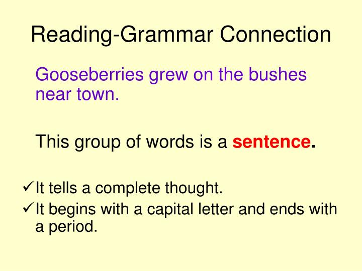 Reading-Grammar Connection
