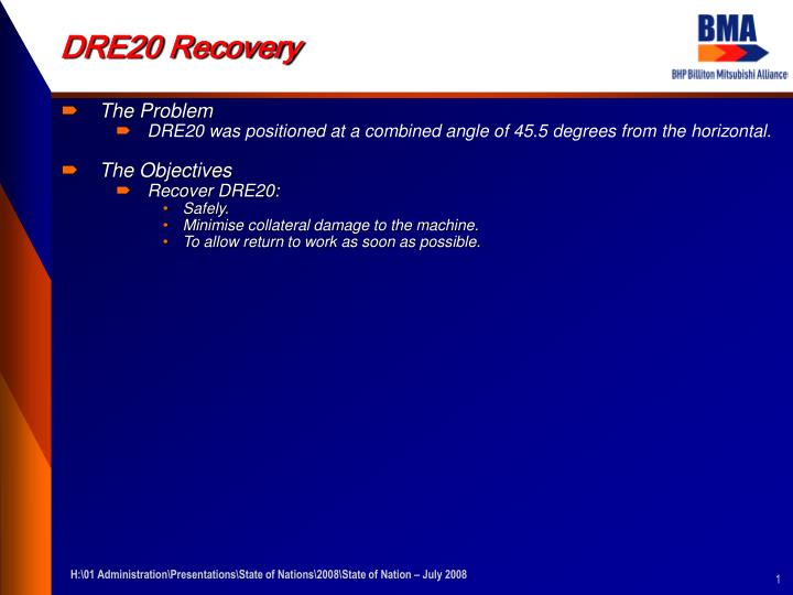 dre20 recovery