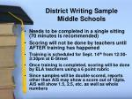 district writing sample middle schools