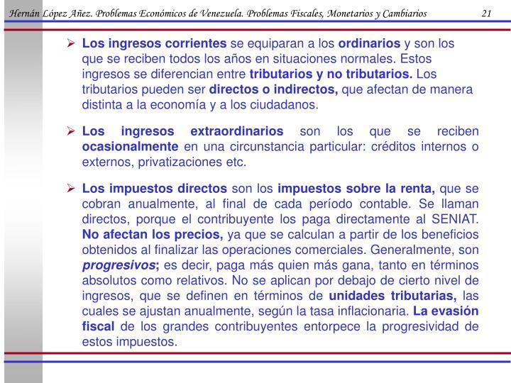 Hernán López Añez. Problemas Económicos de Venezuela. Problemas Fiscales, Monetarios y Cambiarios                      21