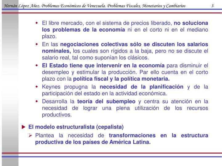 Hernán López Añez. Problemas Económicos de Venezuela. Problemas Fiscales, Monetarios y Cambiarios                        3