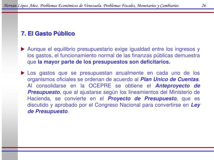 Hernán López Añez. Problemas Económicos de Venezuela. Problemas Fiscales, Monetarios y Cambiarios                      26