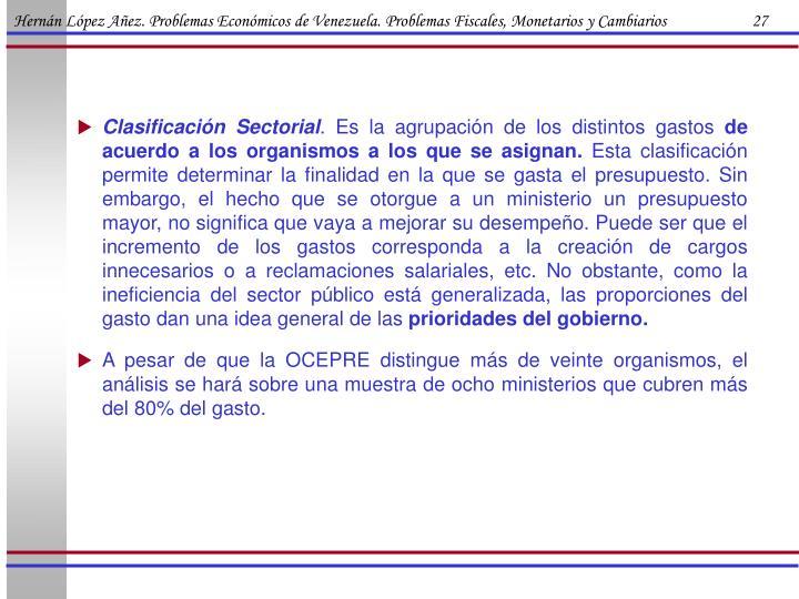 Hernán López Añez. Problemas Económicos de Venezuela. Problemas Fiscales, Monetarios y Cambiarios                      27