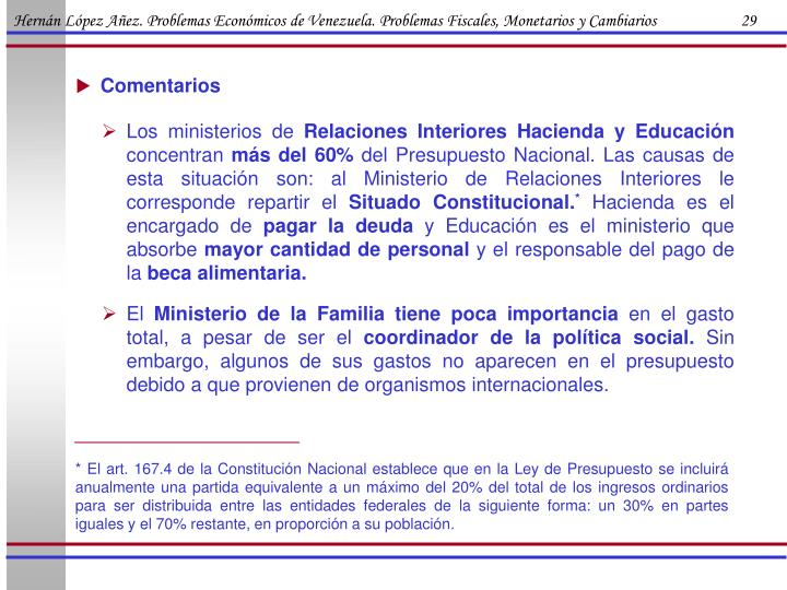 Hernán López Añez. Problemas Económicos de Venezuela. Problemas Fiscales, Monetarios y Cambiarios                      29