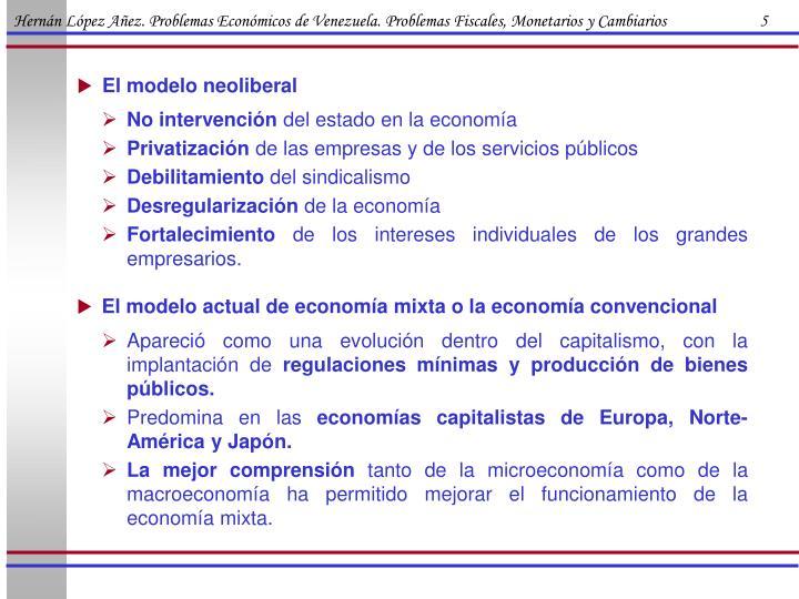 Hernán López Añez. Problemas Económicos de Venezuela. Problemas Fiscales, Monetarios y Cambiarios                        5
