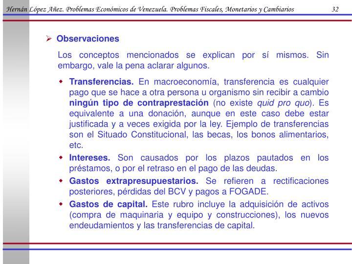 Hernán López Añez. Problemas Económicos de Venezuela. Problemas Fiscales, Monetarios y Cambiarios                      32