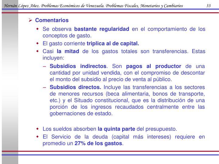 Hernán López Añez. Problemas Económicos de Venezuela. Problemas Fiscales, Monetarios y Cambiarios                      33