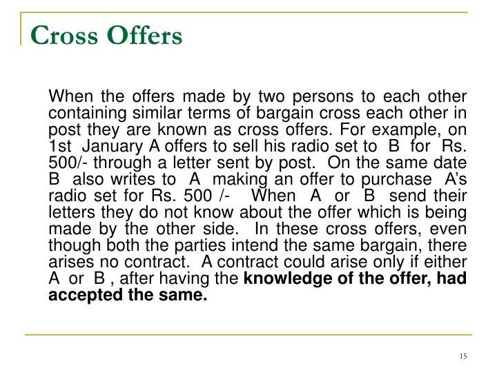 Cross Offers