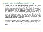 intention to create legal relationship