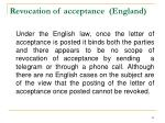 revocation of acceptance england