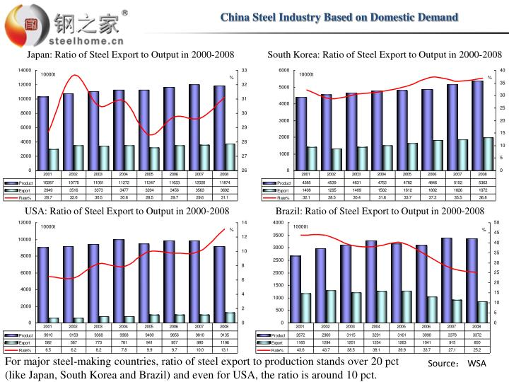 China Steel Industry Based on Domestic Demand
